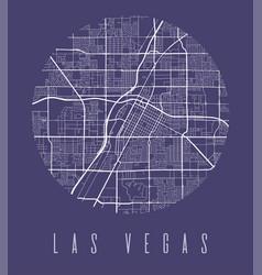 Las vegas map poster decorative design street map vector