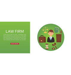 lawyer legal advisor law firm web banner vector image