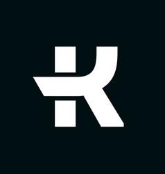 logo letter k wing vector image