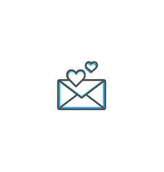 love letter icon design lifestyle icon vector image