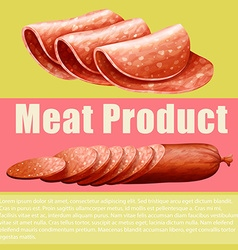 Meat product and sign vector image