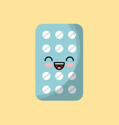Medicine pills icon vector