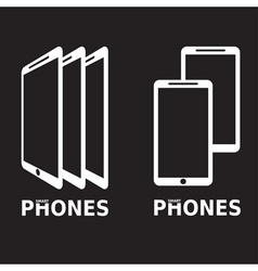 Mobile phones flat design vector image