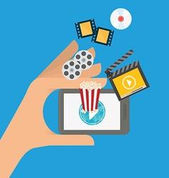 Movie digital design vector image