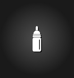 nipple bottle icon flat vector image