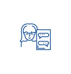 online assistant line icon concept online vector image