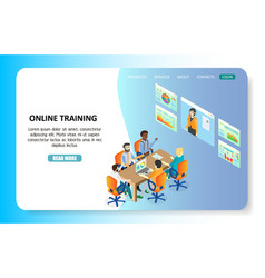 online training landing page website vector image