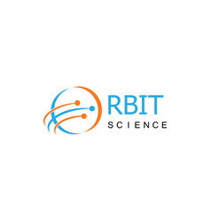 orbit science logo vector image