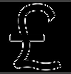 pound sterling the white path icon vector image