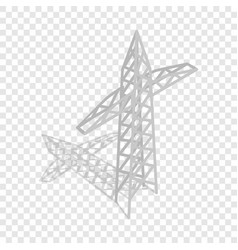 Power transmission tower isometric icon vector