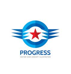 Progress - abstract business logo template vector
