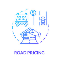 road cost concept icon vector image