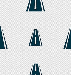 Road icon sign Seamless abstract background with vector image