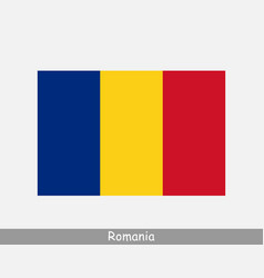 romania romanian national country flag banner icon vector image