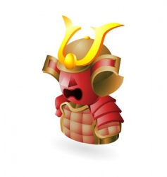 samurai icon vector image