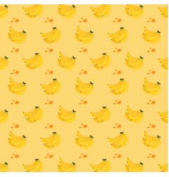 Seamless pattern banana vector