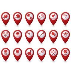 Set 18 sport red pointer vector image