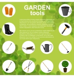 Set of various gardening items vector