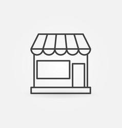 shop building concept icon in thin line vector image