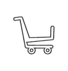 shopping cart market online line vector image