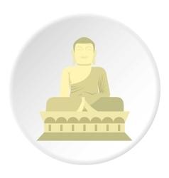 Sitting Buddha icon flat style vector