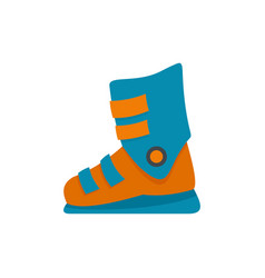 ski boots icon flat style vector image