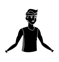 sport man fitness active lifestyle silhouette vector image