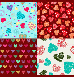st valentines day backgrounds doodle hand drawn vector image