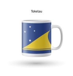 Tokelau flag souvenir mug on white background vector image