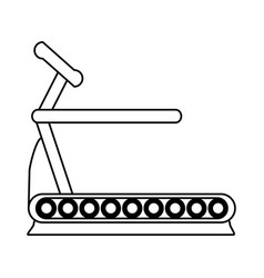 Treadmill fitness related icon image vector