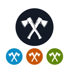 Two Crossed Axes Icon vector image