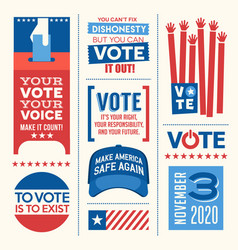 vote in 2020 presidential election vector image