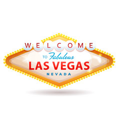 welcome to fabulous las vegas sign vector image