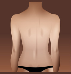 Woman body template vector