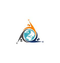 world education logo design template vector image