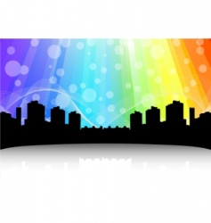 cityscape design abstract background vector image vector image