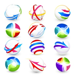collection of colour icons vector image vector image