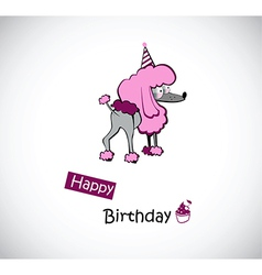 happy Birthday poodle vector image