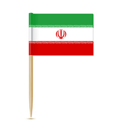 iran flag toothpick vector image