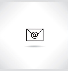 mail sign e-mail icon email letter symbol vector image