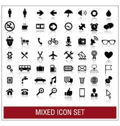 Mixed icon set vector image vector image