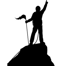 Summit success vector image vector image