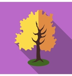 Tall tree icon flat style vector image vector image