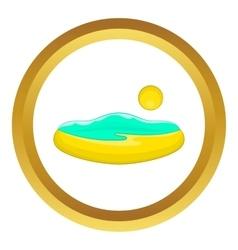 Beach and sun icon vector image