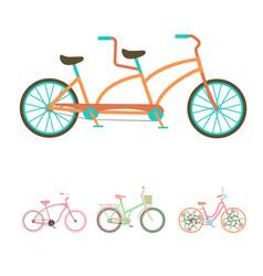 bicycles vintage style old bike transport vector image