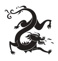 black dragon vector image