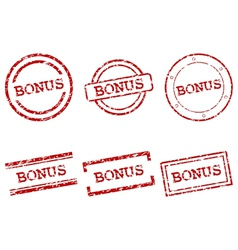 Bonus stamps vector image vector image