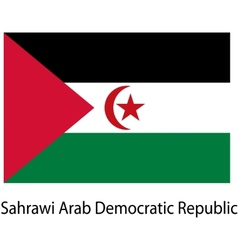 Flag of the country sahrawi arab democratic vector image