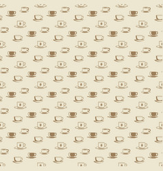 flat coffee cup and mug seamless pattern for cafe vector image vector image