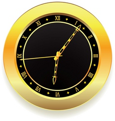 golden clock vector image